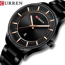 CURREN Top marque homme montres horloge homme mode Quartz montres hommes affaires en acier montre bracelet avec Date classique noir mâle