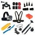 Ir pro montar kit de acessórios de cabeça no peito cinto flutuar monopé para gopro hero 3 3 4 + 5 sj4000 sjcam sj5000 m10 m20 sj6 sj7 xiaomi yi