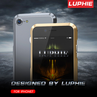 Luphie Luxury Bumper Case For Apple Iphone 7 CNC Prismatic Shape Aviation Aluminum Frame Metal Covers