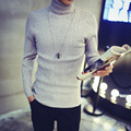 men's leisure thick pullovers full sleeve twist knitting turtleneck sweater