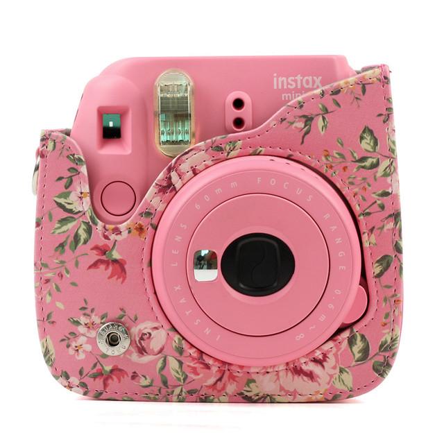 Floral Printed Camera Case for Fujifilm Instax Mini