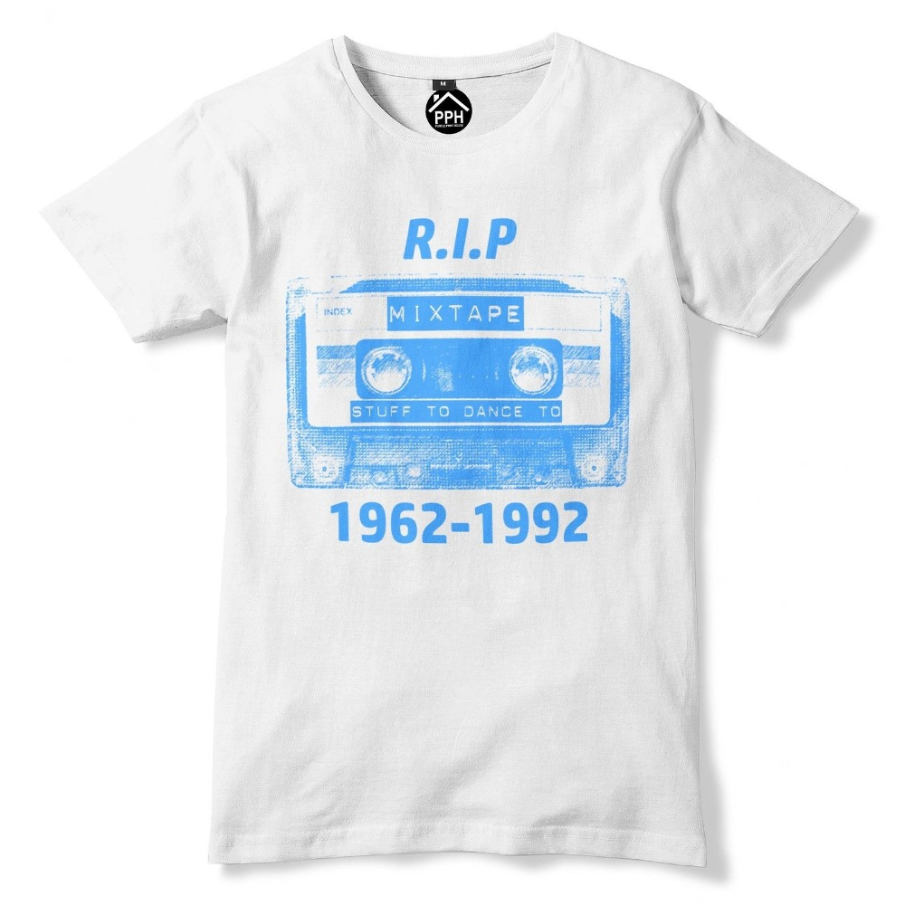 Rip Cassette Tape T Shirt Old School 80S 90S Music T Shirt Top Disco Dance 356 New 2019 Fashion Fashion Brand Concert T Shirts image