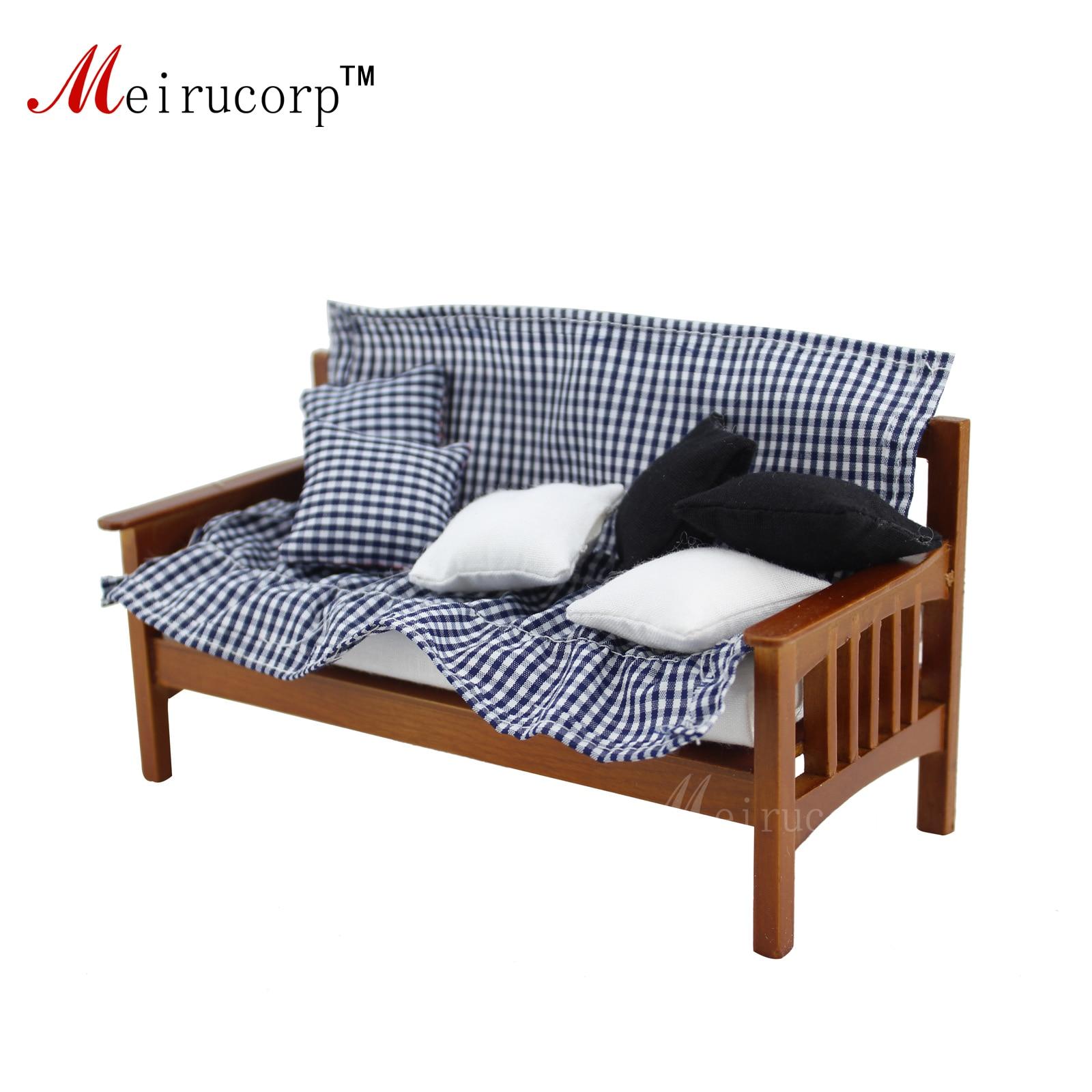 Domeček pro panenky 1:12 Miniaturní nábytek Ruční montáž dřevo Tři sedadla