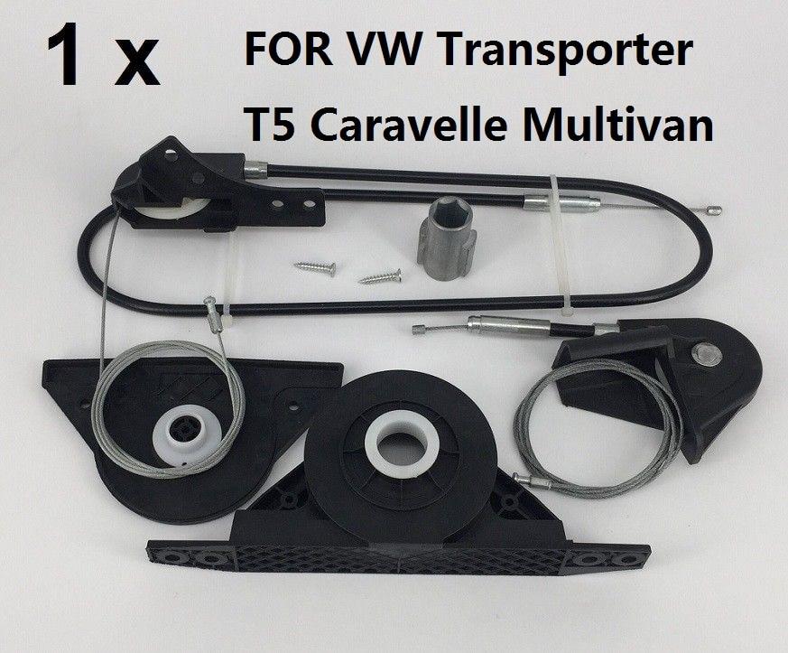 X1 ensemble POUR Volkswagen Transporter T5 Caravelle Multivan électrique porte coulissante kit de réparation et droite partir 2003