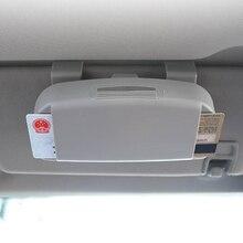 Автомобильный стиль, автомобильный солнцезащитный козырек, солнцезащитные очки, держатель для очков, зажим для кредитных карт, посылка, ID сумка для хранения, 3 цвета