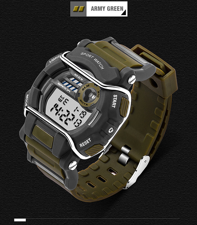 sanda luxury brand led digital watches fashion men\'s sports wristwatches drop shipping (44)