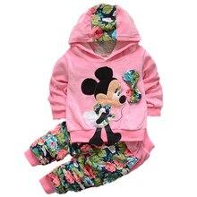 782a9ac93 Niñas cálido traje casual bebé niños Minnie Mickey ropa Otoño e Invierno  suéter flor pantalones ropa conjunto 0-3Ykid ropa depor.