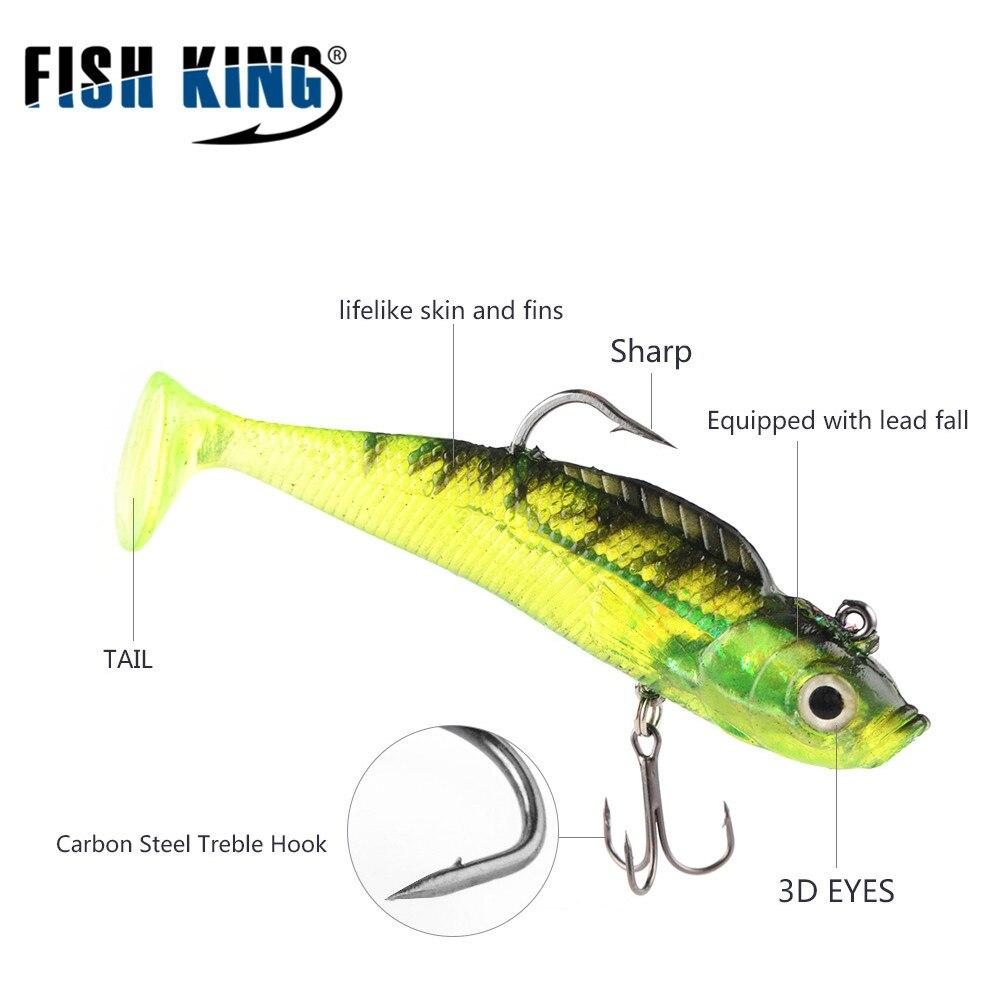 FISH KING 5db / tétel Szürke Puha Lure 8cm 9g Wobblers Mesterséges - Halászat