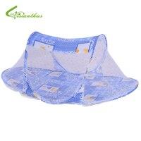 Bebé ropa de Cama de Bebé Bebé Cama Carpa Plegable Nets Cuna Mosquitera para Los Niños De La Puerta Portátiles Tipo Cuna Tienda de Impresión de Los Niños 3 Colores