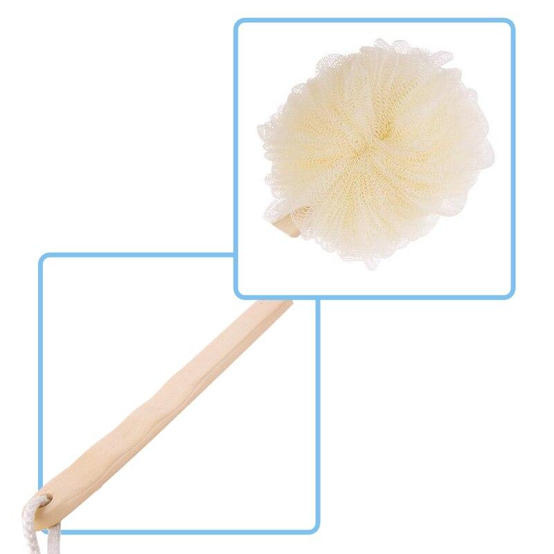 Lengthening Wooden Handle Bath, Bathroom Shower Brush, Bath Rubbing Back Tool