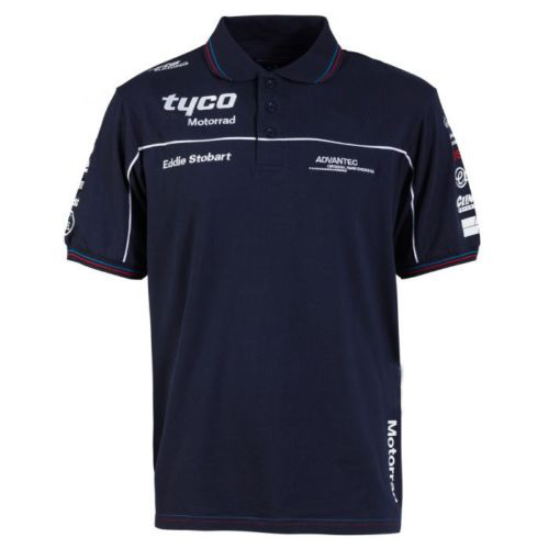 2018 Tyco <font><b>Motorrad</b></font> Motorcycle Bike <font><b>T</b></font>-<font><b>shirt</b></font> moto gp Cotton <font><b>T</b></font>-<font><b>shirt</b></font> Jersey for <font><b>BMW</b></font> Team Polo <font><b>Shirt</b></font> Racing Men's Motorsport image