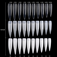 500pcs/set False Nail Tips Fake Nails France Salon White Natural Clear Nail Art Tips False Nails for Manicure NEE 500pcs bag nail art stiletto tips natural oval sharp end false tips fake fingernails manicure artificial for nails salon dtd 30