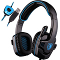 INTONE Original Gaming Headset 7.1 surround USB Headphone with Microphone Noise Cancelling for computer laptop PC Gamer