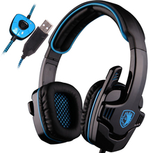 SA-901 SA901 Sades 7.1 Headset Gamer 7.1 surround USB Gaming Headphones with Microphone Noise Cancelling for computer laptop