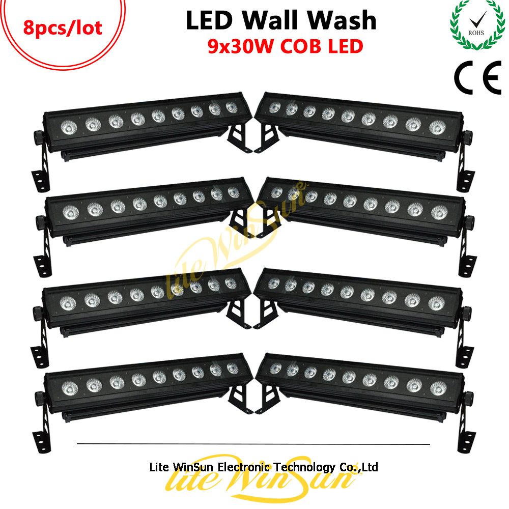 Dynamic Litewinsune 8/lot 9*30w Cob Led Wall Washer Lighting High Power Hotel Wedding Washing Stage Lighting Stage Lighting Effect