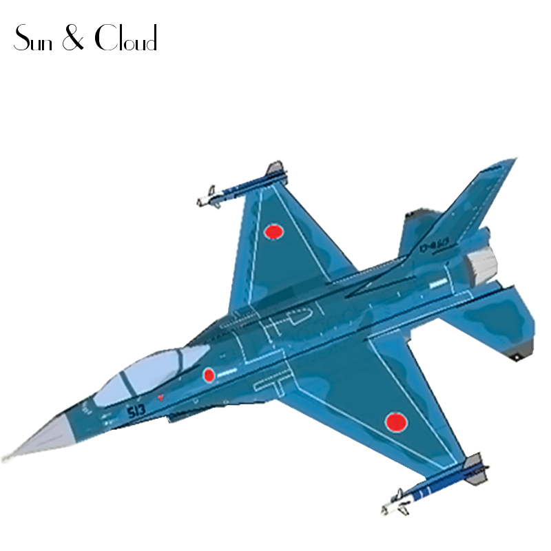 1:100 3D Japanese F 2 Fighter Plane Aircraft Paper Model