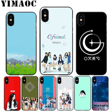 YIMAOC A22 Gfriend K Pop Soft TPU Black Silicone Case for iPhone Xr Xs Max X or 10 8 7 6 6S Plus 5 5S SE(China)