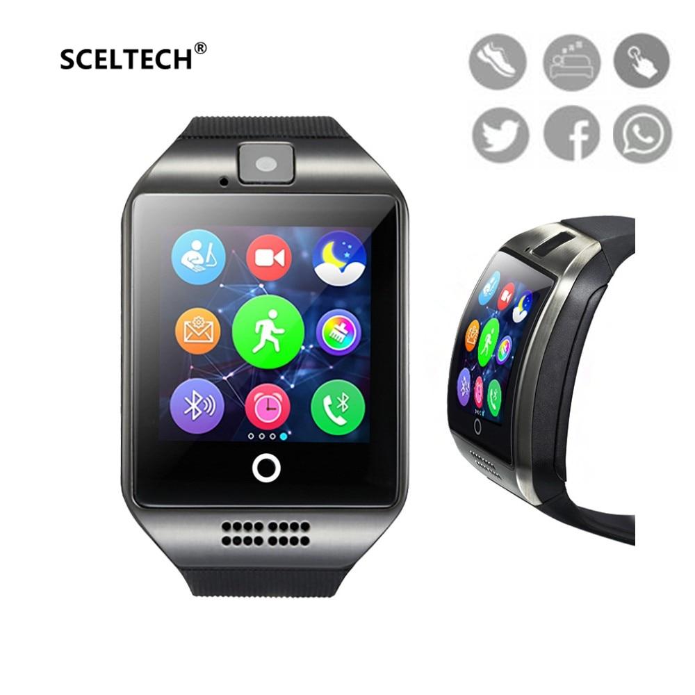 SCELTECH Smart Watch Q1 Smartwatch Bluetooth Digital Wrist Sport Watch SIM Card Phone With Men Camera For iPhone Android Samsung