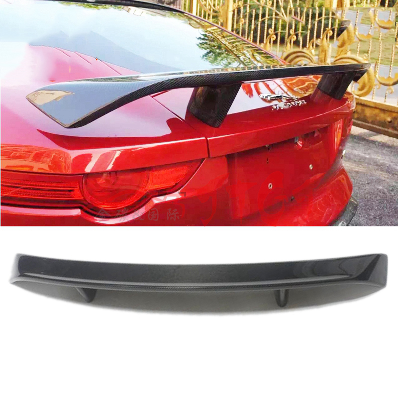 Car Styling Fit For Jaguar F-type Spoiler 2014 2015 2016 High Quality Carbon Fiber Rear Spoiler Tail Trunk Wing Boot Lip Molding