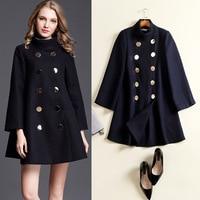 2017 Autumn And Winter Women In The Long Wool Coat Cloak Loose Wool Woolen Coat Female