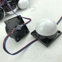 60 мм Диаметр крышки; DC12V; WS2811 IC; IP68; адресуемый; 1,44 Вт(6 светодиодный s); RGB Полноцветный; молочный чехол; Светодиодный модуль пикселей