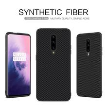 NILLKIN Synthetic Fiber Case for Oneplus 7 Luxury Slim Carbon Fiber PP Plastic Back Cover Phone Cases For Oneplus 7 pro