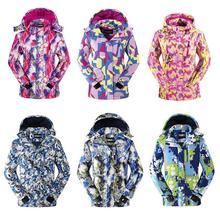 -30 Grados Niños Camuflaje Capa de la Chaqueta de Esquí Impermeable para Niño y Niñas A Prueba de Viento Cálido Abrigo Con Capucha 110-160 cm