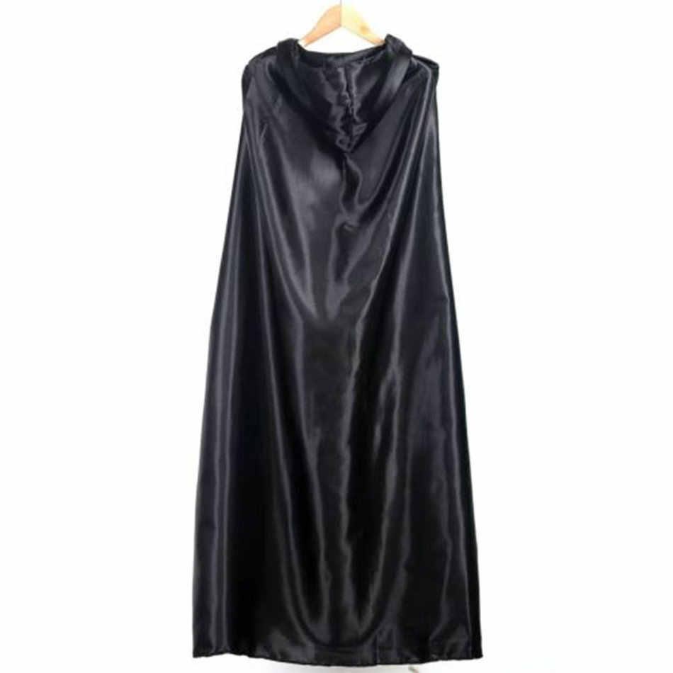 Preto halloween traje teatro prop morte hoody manto diabo longo tippet cabo cosplay nova moda para dropshipping