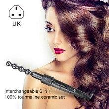 6 в 1 Многофункциональный Набор для завивки волос сменный керамический турмалиновый набор для завивки волос H7JP