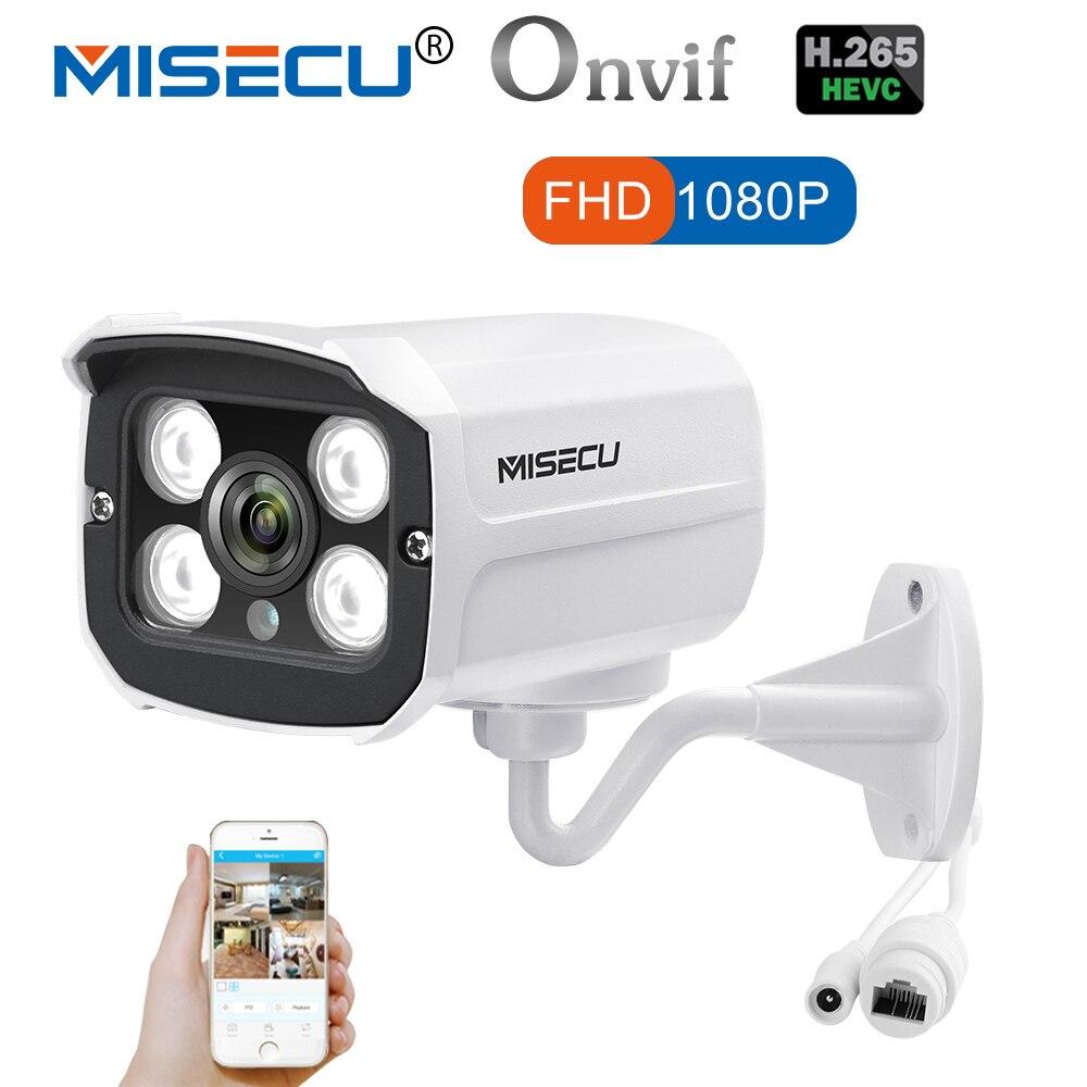 MISECU date H.265/H.264 IP Caméra 2.0MP Hi3516CV 300 4 pcs LED array 1080 p ONVIF IP Métal Caméra p2P Nuit Vision Surveillance