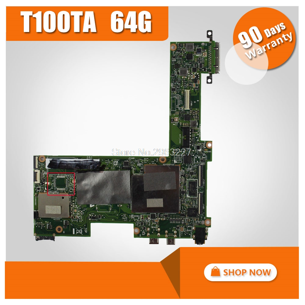 цена на Original for ASUS T100TA 64G motherboard T100TA REV2.0 Mainboard 100% tested mainboard
