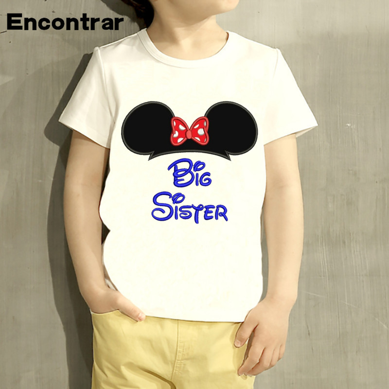 Kids T-Shirt Tops Black Big Sis Unisex Youths Short Sleeve T-Shirt