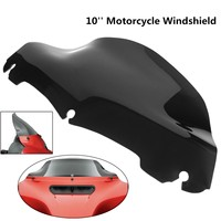 Black 10 Inch Windshield For Harley /Electra /Street /Glide /Touring /FLHT /FLHTC 2014 2015
