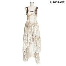 1cb95cd67f3 Steampunk Summer Off Shoulder Long Condole Belt Dress Women Asymmetrical  Hem Lace Matching Do Old Dresses