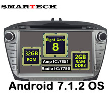 Octa Core 2Din Android 7.1.2 For Hyundai IX35 Tucson Car Video Radio Player Car Head Unit Car Radio GPS Navigation Wifi 2G RAM