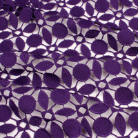 Thickened Embroidered Water Soluble Milk Silk Lace Fabric Transparent Geometry Textured Fabric Luxury Dress Fabric 125cm