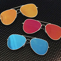 Free shipping glasses New glasses Metal stents Men Women retro colours Fashion madam lady Sunglasses summer 6 colors glasses