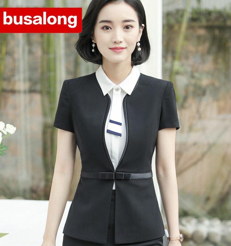 Tradition OL Classic Short Sleeve Correct Work Office Uniform Designs Jaqueta Feminina Jacket Blazer Feminino Womens Formal