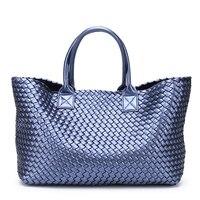 2019 Brand Design Woven Handbags For Women Bales Fashion Tide Weave Hand Shoulder Lady Large capacity Purse Shopping Basket Bag