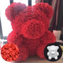 1Pc Modelling Polystyrene Styrofoam White Foam Bear Mold for Birthday Party Valentines Day Mothers Gift Wedding Decoration