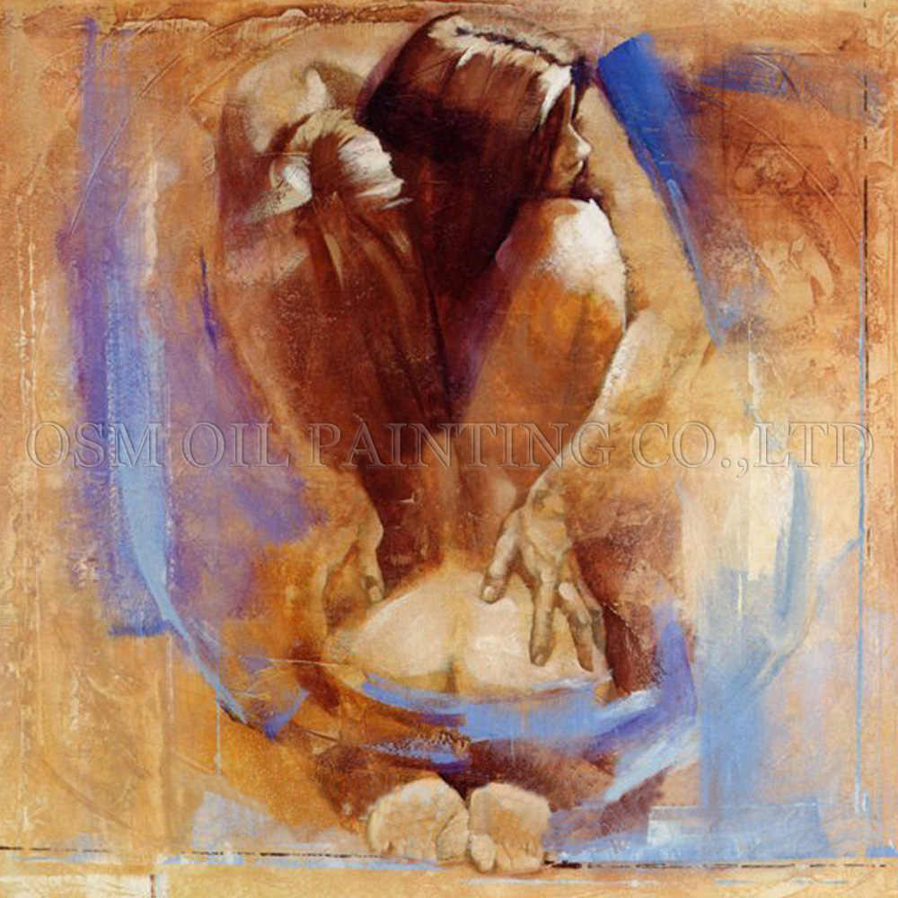 Artist Directly Supply High Quality Impression Nude Art Picture for Wall Decoration Sexy Man and Woman Naked Oil Painting