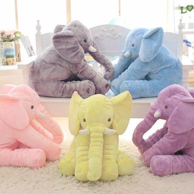 40 cm/60 cm Höhe Große Plüsch Elefant Puppe Spielzeug Kinder Schlafen Zurück Kissen Nette Ausgestopften Elefanten Baby Begleiten puppe Weihnachten Geschenk
