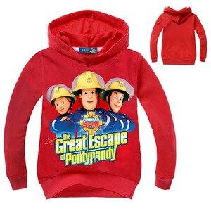 Image 2 - Z & y 2 8years roupas do menino da criança bombeiro sam jogging terno à moda criança roupas adolescentes crianças agasalho traje de ano novo para o menino