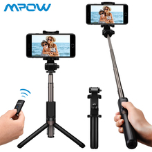 Mpow Upgraded Selfie Stick Bluetooth 2-in-1 Extendable Selfie Stick Tripod with Wireless Remote Shutter for iPhone For Samsung caseier selfie stick bluetooth with built in bluetooth remote shutter for iphone x 876 fashion selfie stick for samsung xiaomi