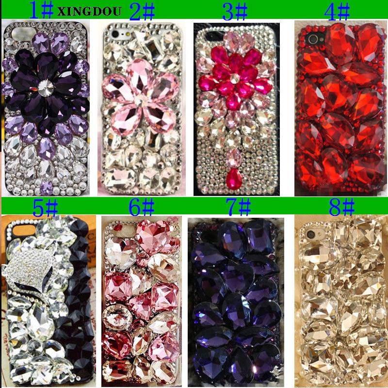XINGDUO Lyx Crystal Stift Bling Rhinestone Plast Hårt Fodral För - Reservdelar och tillbehör för mobiltelefoner