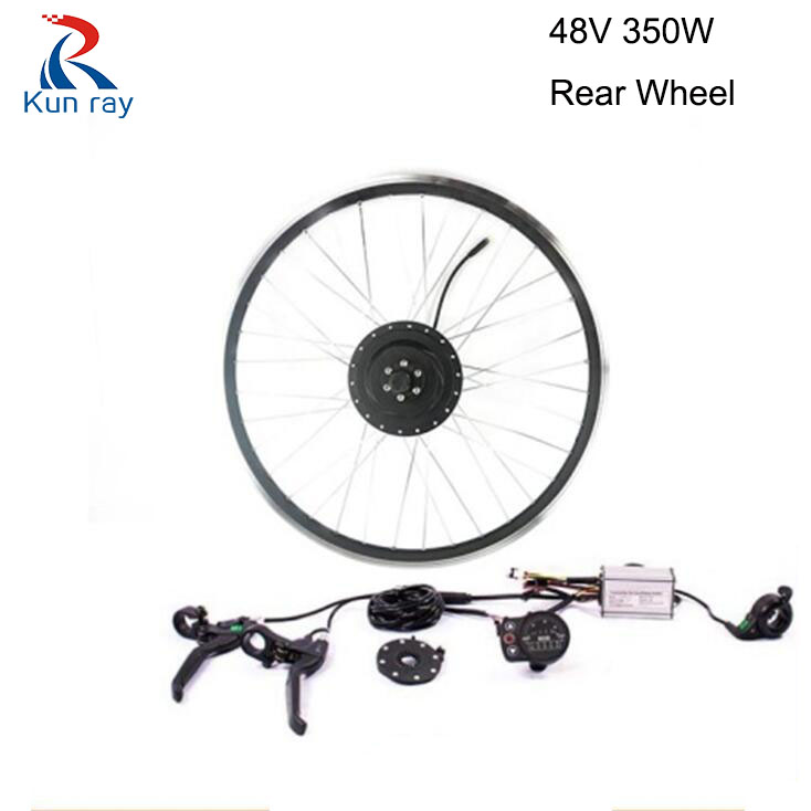 Bicycle Conversion kit 350W 48V Gear Brushless Hub Motor Mountain cycling Electric bike rear wheel Motor 16-28 e bike kit waterproof electric bike conversion kit system for 36v250w 350w hub motor kit