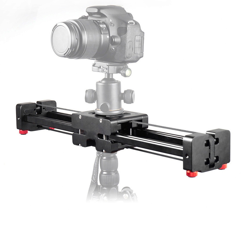 50cm Track Rail Stabilizer Retractable Camera Video Slider Dolly 104cm Sliding Distance Load Up to 8kg for Canon Nikon Sony DSLR