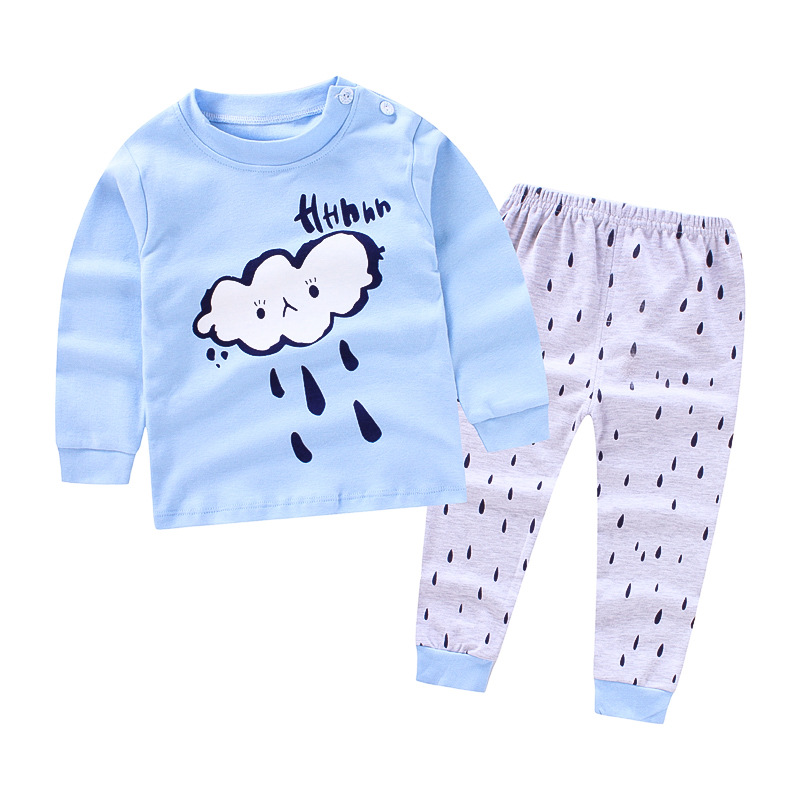 2018 Top quality NEW style Pullover baby Boys Clothes cotton Baby's Sets WDS1-WDS2 baby care top top