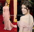 2017 Vestidos De Fiesta Anna Kendrick New Arrival Sexy Backless Sheer Long Pleat Side Slit Carpet Formal Dress Celebrity Dresses