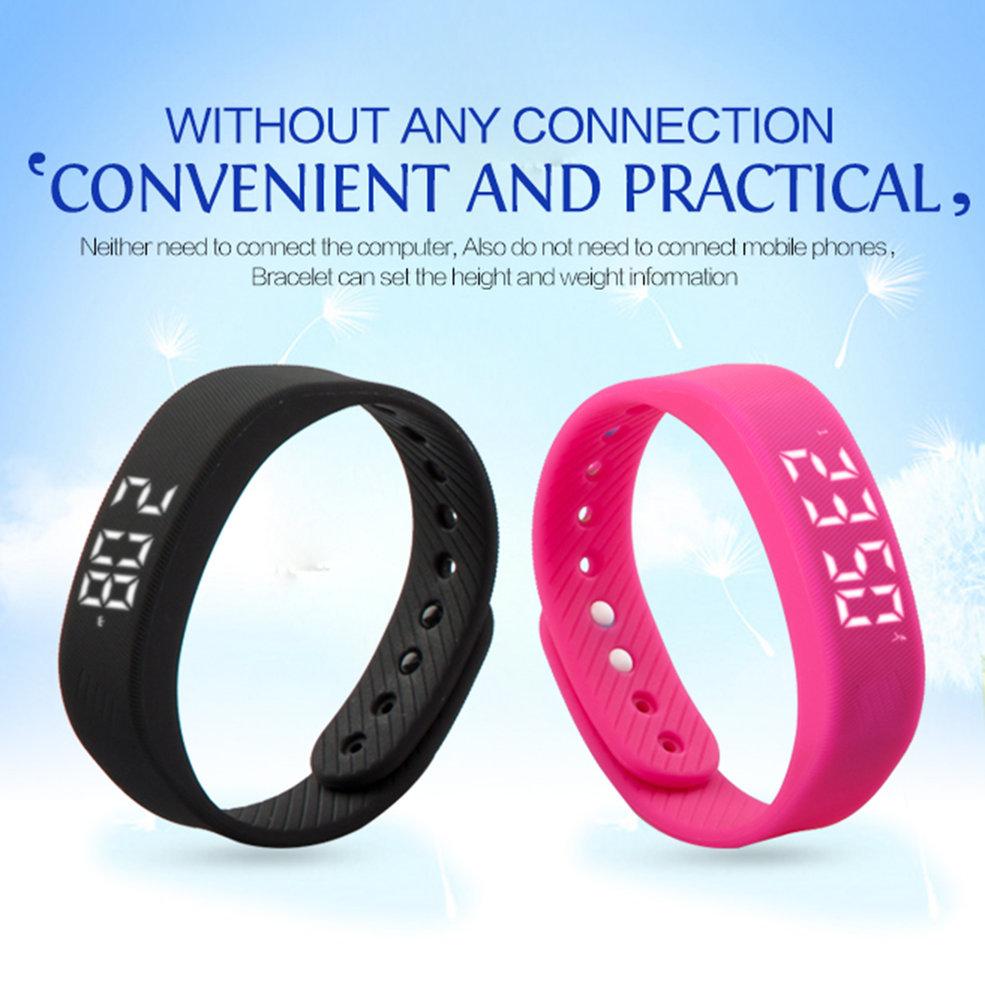 10PCS Wristbands 3D T5 LED Display Sports Gauge Fitness Bracelet Smart Step Tracker Pedometer светящиеся браслеты hercules led wristbands 10шт 4780878